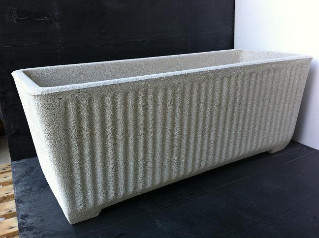 Vaso Esterno Grigio : Vaso fioriera rettangolare in cemento torino 100x38 h41 cm