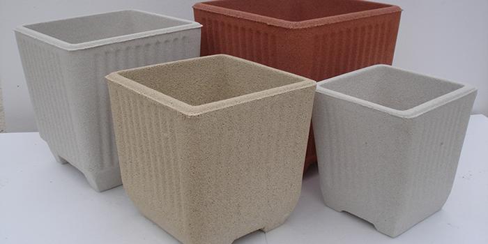 Vasi da esterno quadrati in cemento e graniglia Torino