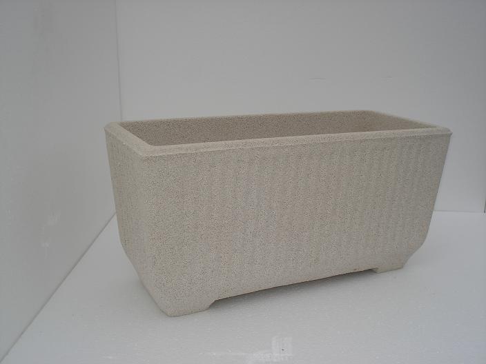 Vaso fioriera rettangolare in cemento torino 60x26 h32 - Vasi per esterno in cemento ...