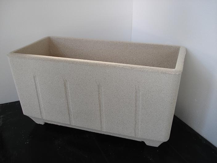 Vaso fioriera rettangolare in cemento torino 80x38 h42cm edilrapid trana - Vasi rettangolari da esterno ...