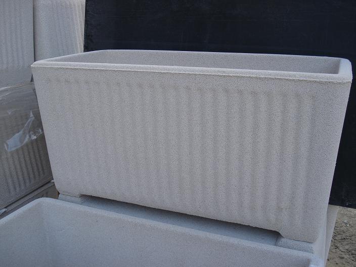 Vaso fioriera rettangolare in cemento torino 80x38 h41cm edilrapid trana - Vasi rettangolari da esterno ...