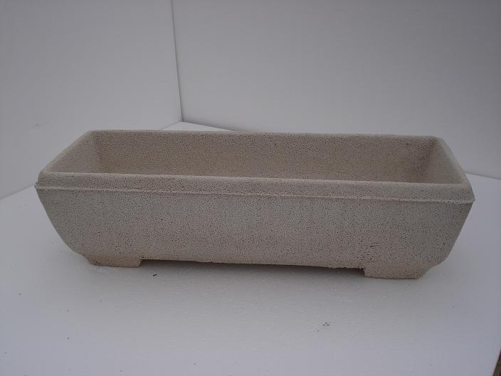 Vaso fioriera rettangolare in cemento torino 66x23 h18 for Vaso rettangolare