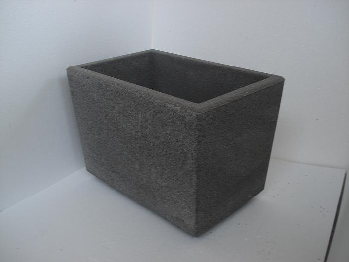 Vaso Esterno Grigio : Vaso fioriera rettangolare in cemento torino 60x40 h44 cm
