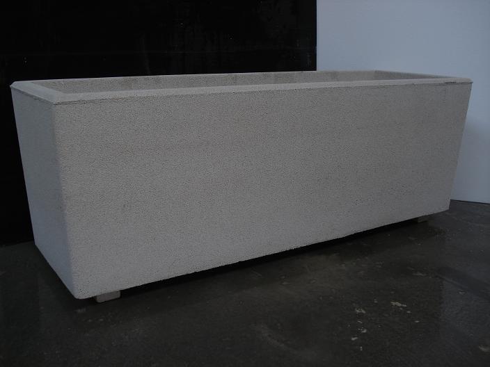 Vaso fioriera rettangolare in cemento torino 120x40 h44 cm edilrapid trana - Vasi rettangolari da esterno ...