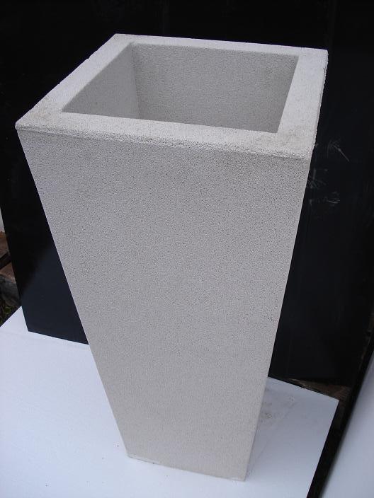 Vaso fioriere quadrato in cemento torino 40x40 h60 cm - Vasi per esterno in cemento ...