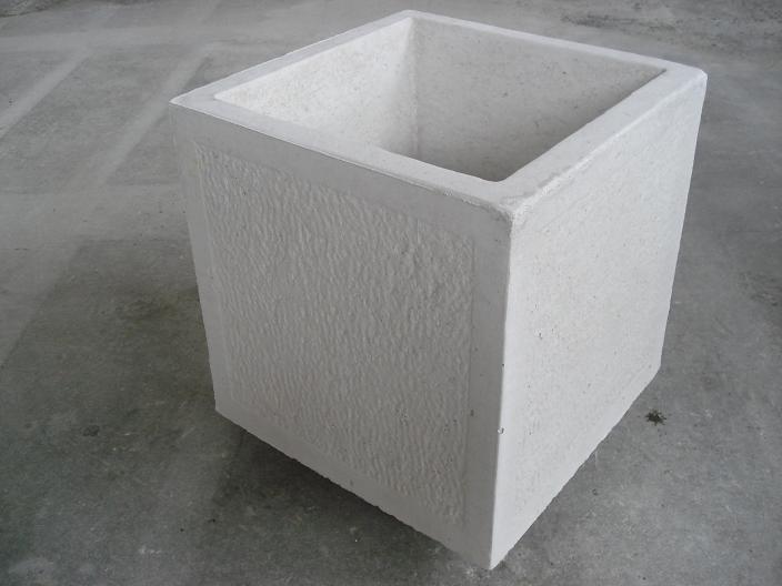 Vaso bugnato in cemento torino 100x40 h45cm edilrapid - Vasi per esterno in cemento ...