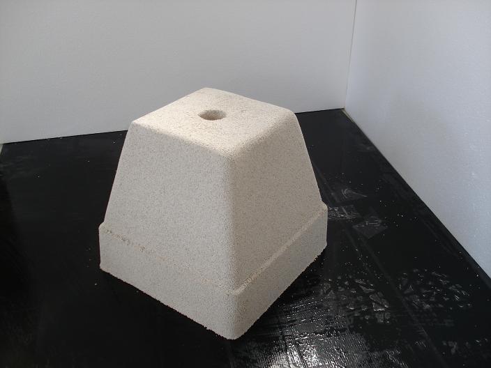 Base quadrata in cemento per ombrelloni torino 30x30 h31 - Porta ombrellone ...